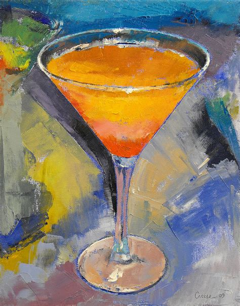martini painting mango martini painting by michael creese