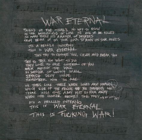 eternal testo arch enemy il testo di war eternal
