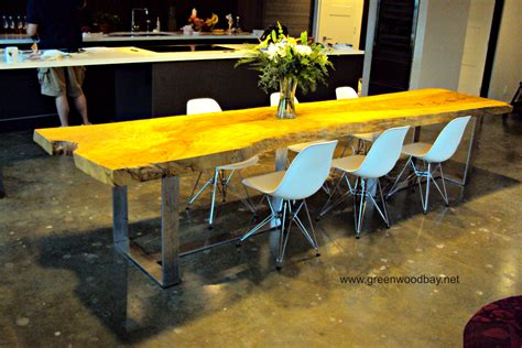 live edge slab dining room table live edge dining table this table is made from a single