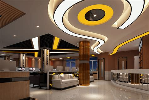 interior design for net cafe 3d interior internet cafe aisle