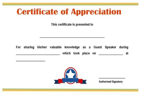 appreciation letter to guest speaker 12 genuine sles of certificate of appreciation for