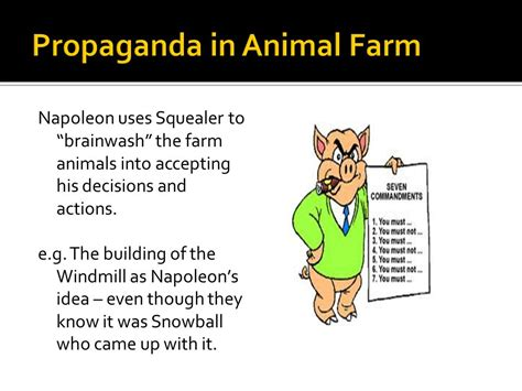 themes and exles in animal farm thematic study propaganda ppt video online download