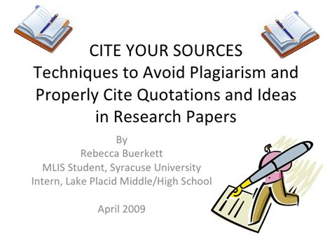 how to write sources for research paper cite your sources techniques to avoid plagiarism and