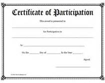 certificate of participation templates free printable certificates of participation awards templates