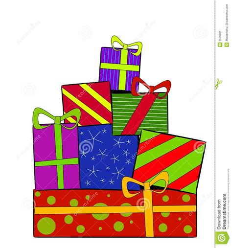 christmas gifts presents stock illustration image of