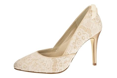 Brautschuhe Ivory by Brautschuhe Agnes Ivory Gold Vintage Rainbow Couture
