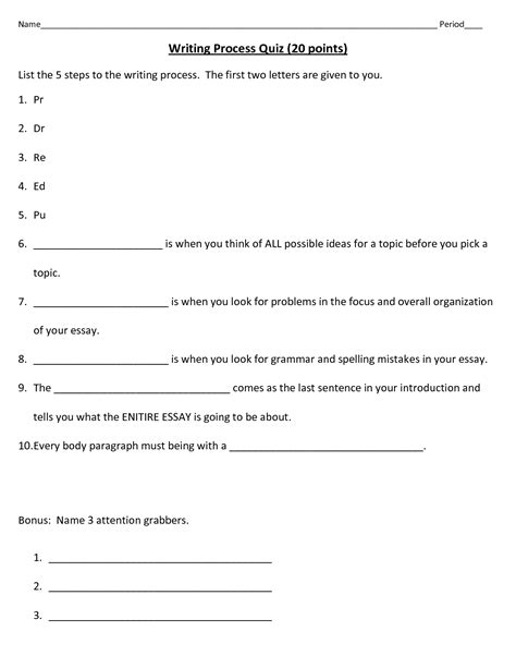 Writing Process Worksheet by 12 Best Images Of Writing Process Worksheets Printable