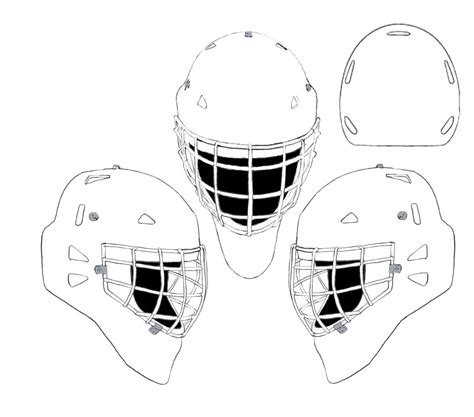 hockey goalie mask coloring recherche google coloriage
