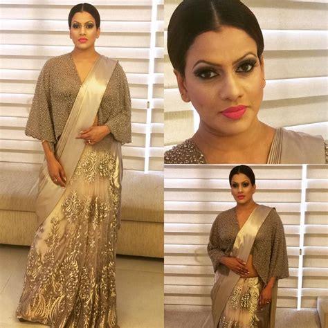 sri lankan actress saree designs 2018 sri lankan actress sangeetha weerarathne in michael