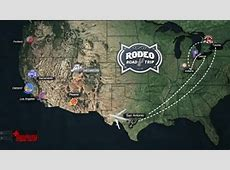 Rodeo Road Trip Map | San Antonio Spurs Lakers Roster