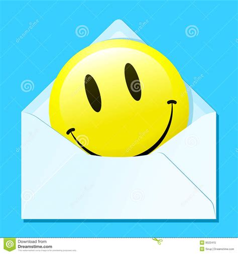 smiley face in envelope royalty free stock photo image smiley face in envelope royalty free stock photo image