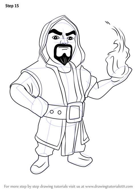 doodle how to make wizard learn how to draw wizard from clash of the clans clash of