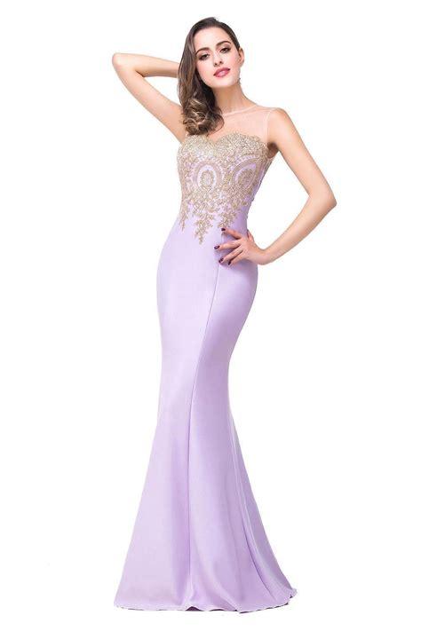 Sleeveless Mermaid Evening Dress sheer neck floor length mermaid sleeveless lace appliques