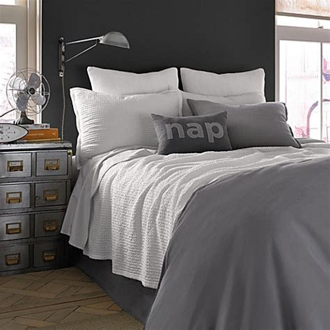 kenneth cole bedding kenneth cole reaction home mineral waffle weave coverlet in white bed bath beyond
