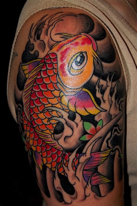 koi fish tattoo half sleeve designs koi tattoos designs ideas and meaning tattoos for you