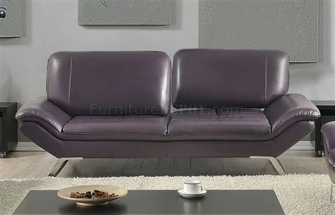 eggplant colored sofa roxi sofa in eggplant full leather by at home usa w options