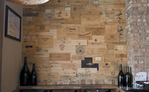 Chicago Wall Mural wine crate wall at davanti enoteca