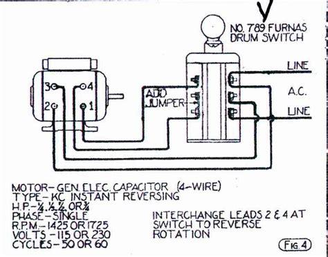 help wiring ge motor to furnas forward switch