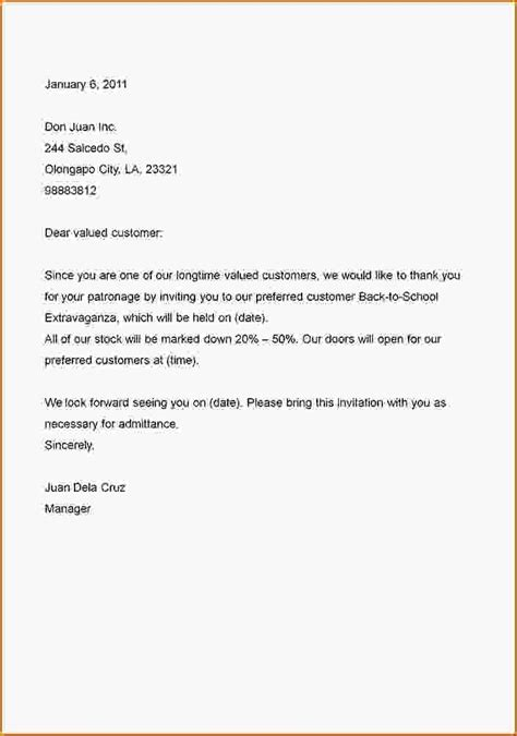 Business Letter In Sle Business Letter Sle Us 28 Images 5 Exle Of Business Letter Business Letter 7 Company Sales