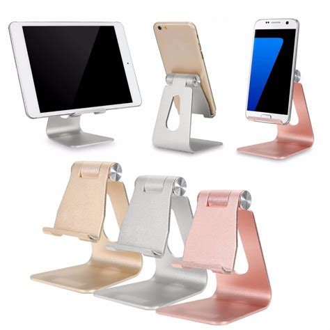 iphone desk stand charger universal adjustable anti slip aluminum desktop stand