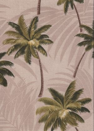 Palm Upholstery by Mana Moss Tropical Hawaiian Palm Fronds Cotton Nubby Bark