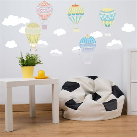 peel and stick wall decals hot air balloon fabric wall decal peel and stick