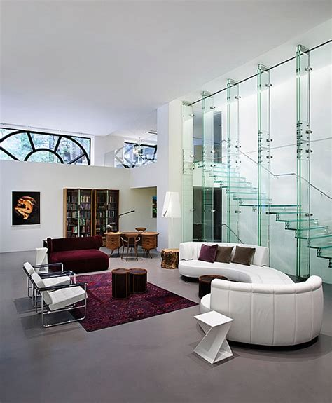 glass wall design for living room enthralling glass staircases that add sculptural style to