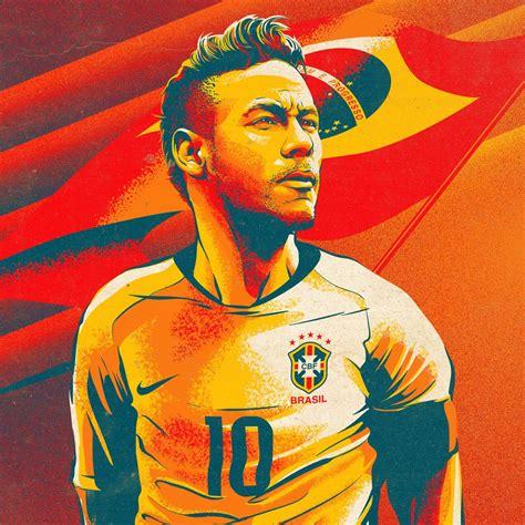 unique illustrations  messi ronaldo neymar  salah