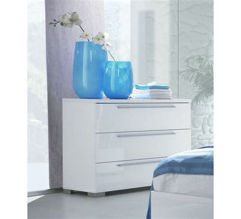 Commode Laque Blanche by Commode Moderne Laqu 233 Blanc 3 Tiroirs 2370