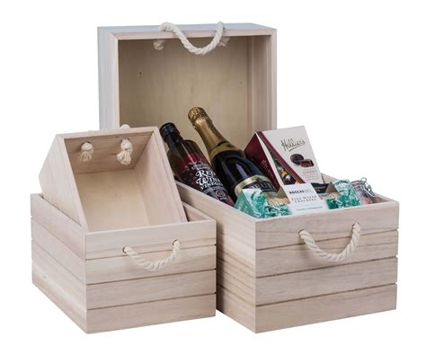 Natural Wooden Crate Large from Storage Box