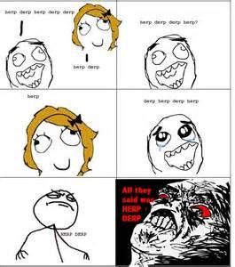 Meme Le - le derp rage le rage comics