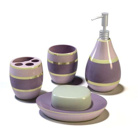 purple bathroom sets purple layered bathroom set 3d model cgtrader com