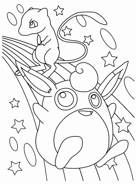 pokemon coloring pages legendary mew mew coloring page coloring home