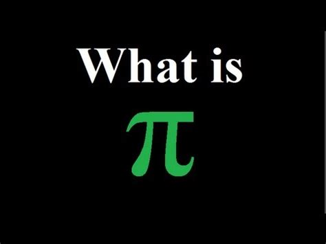 what is what is pi π explained youtube