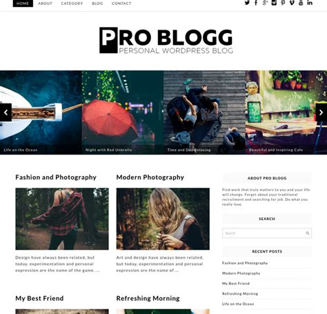 15 best free responsive blog wordpress themes 2016