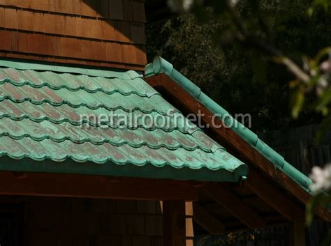 Copper Awning Metal Roofs That Look Like Copper Roofs But Aren T
