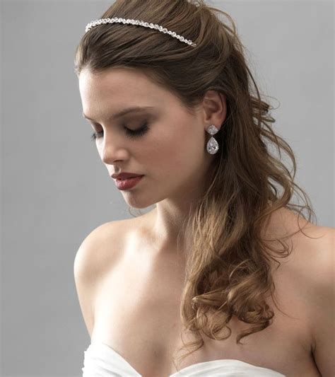 Wedding Hairstyles Half Up Half Down With Headband And Veil | wedding hairstyles half up half down with headband