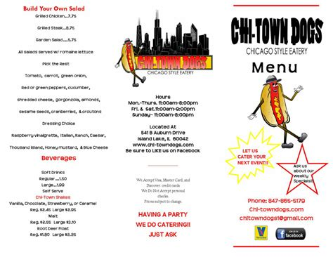 chi town dogs menu chi town dogs a chicago style eatery