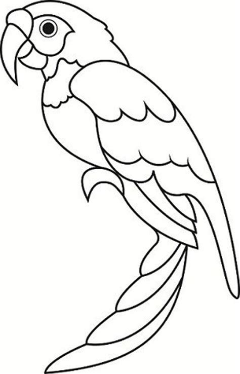 coloring pages of birds in the rainforest parrot papercraft by darkwolfdesign manualidades
