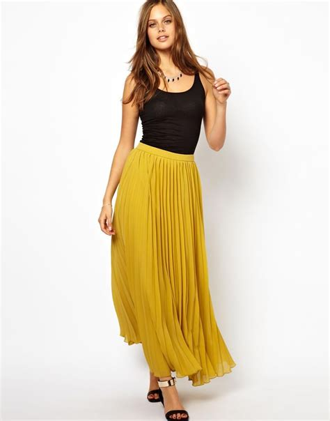 pleated maxi skirt clothes
