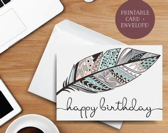 digital greeting card template your birthday printable greeting card 5x7 digital