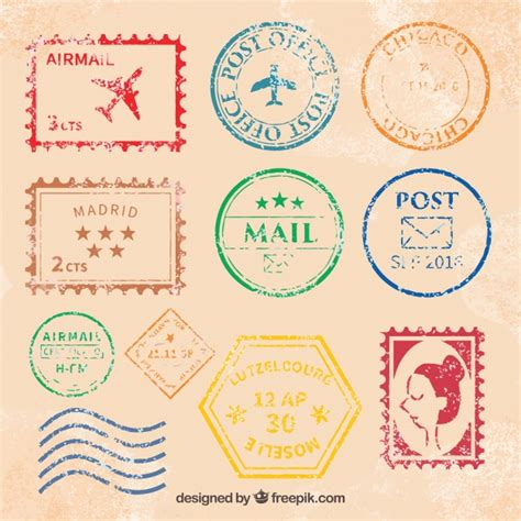 imagenes vintage sellos genial colecci 243 n de sellos postales vintage descargar