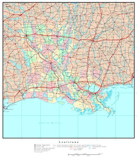 louisiana political map