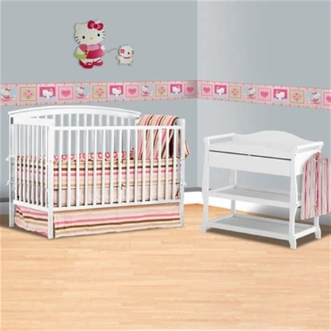 Convertible Cribs With Changing Table And Drawers Storkcraft White Bradford 4 In 1 Convertible Crib And Aspen Changing Table With Drawer 2