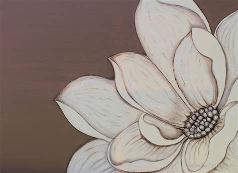 how to paint acrylic on canvas flowers quot original acrylic painting of and mocha flower