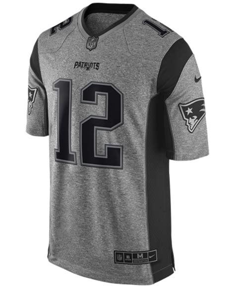 S New Patriots Tom Brady 12 Gray Gridiron
