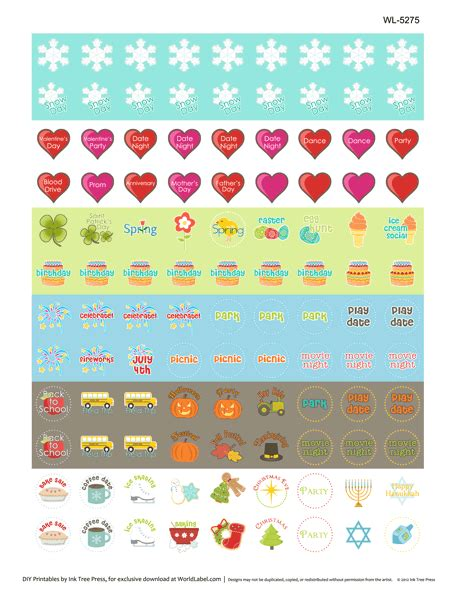 Printable Calendar Labels | print calendar reminder stickers new calendar template site