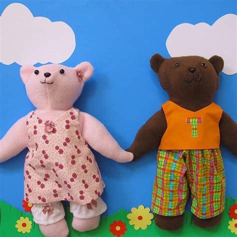 pattern teddy bear clothes tie dye diva patterns fleece navidad easy handmade gift