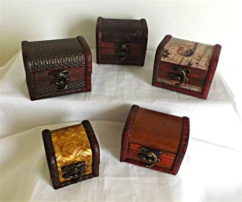 small wooden treasure chest boxes wooden treasure chest small trinket keepsake box