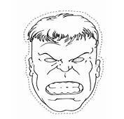 Desenho De M&225scara Do Hulk Para Colorir  Tudodesenhos